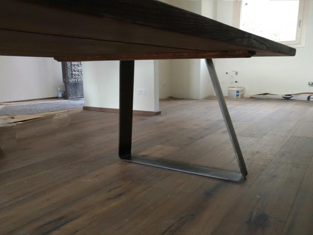 Tavolo in legno massello tavolo in noce tavolo su misura tavolo design tavoli classici - Tavolo stile industriale ...