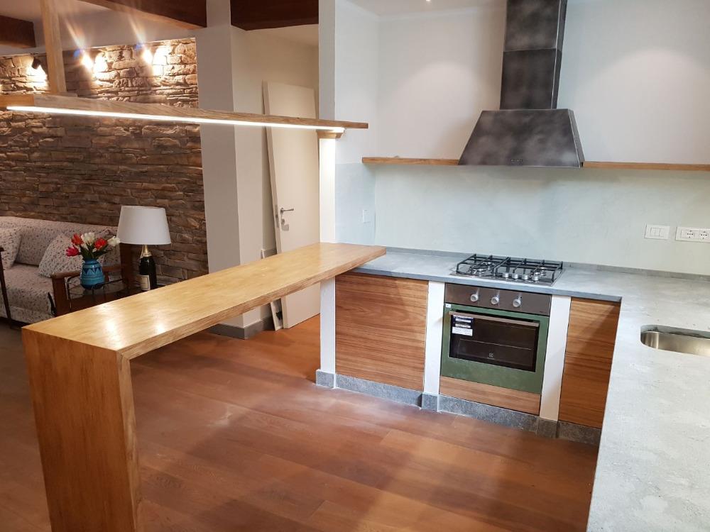 Cucina in muratura e rovere - Piano cucina in muratura ...