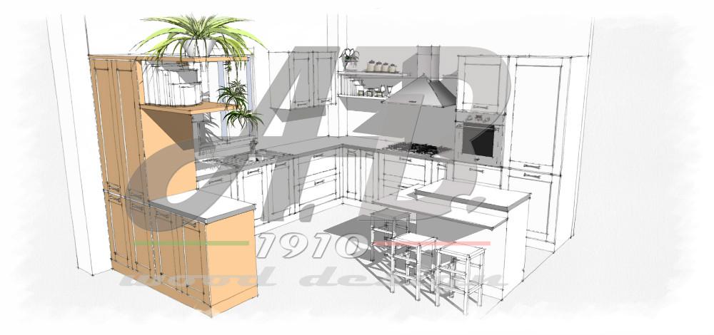 render e disegni, prgettazione ambienti, designer, progetto cucina ... - Disegni Cucine