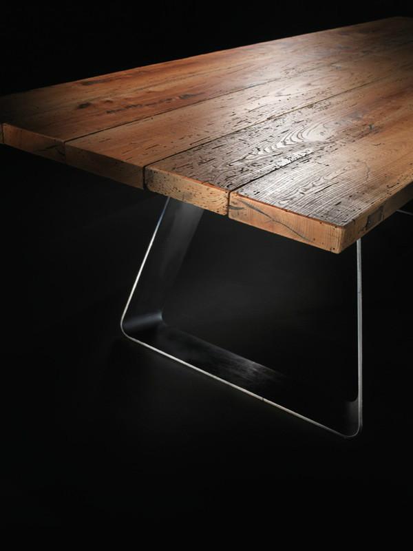in legno massello, tavolo in noce, tavolo su misura, tavolo design ...