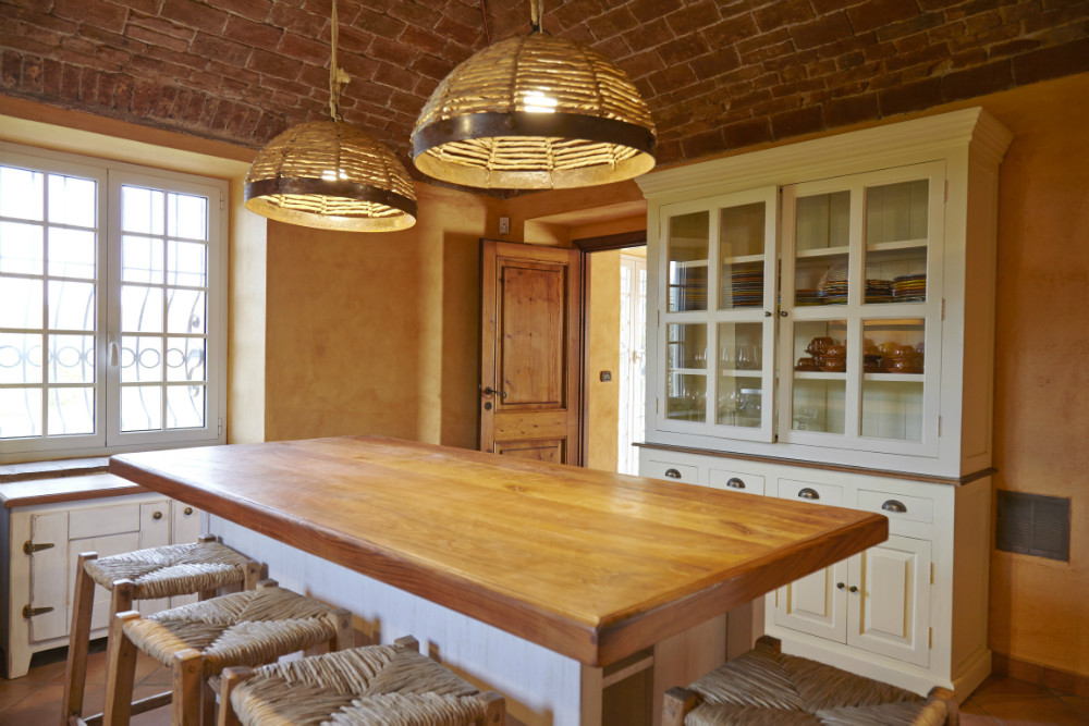 Cucina country-chic con isola